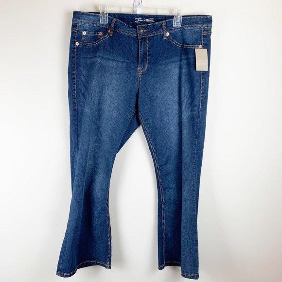 Torrid NWT 20 Plus Extra Short Blue Jeans Denim